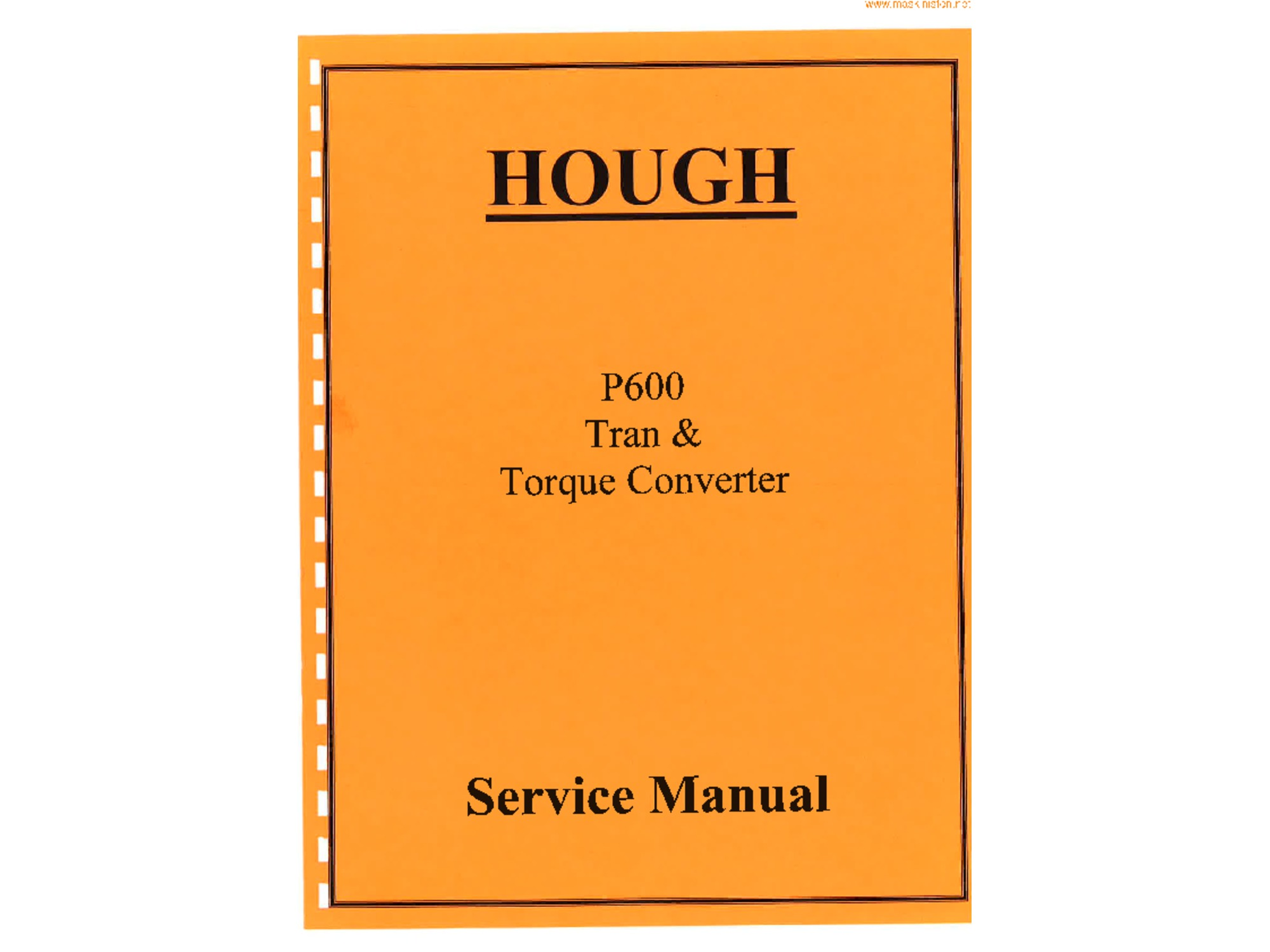 IH Hough P600 Transmission and Torque Converter Manual