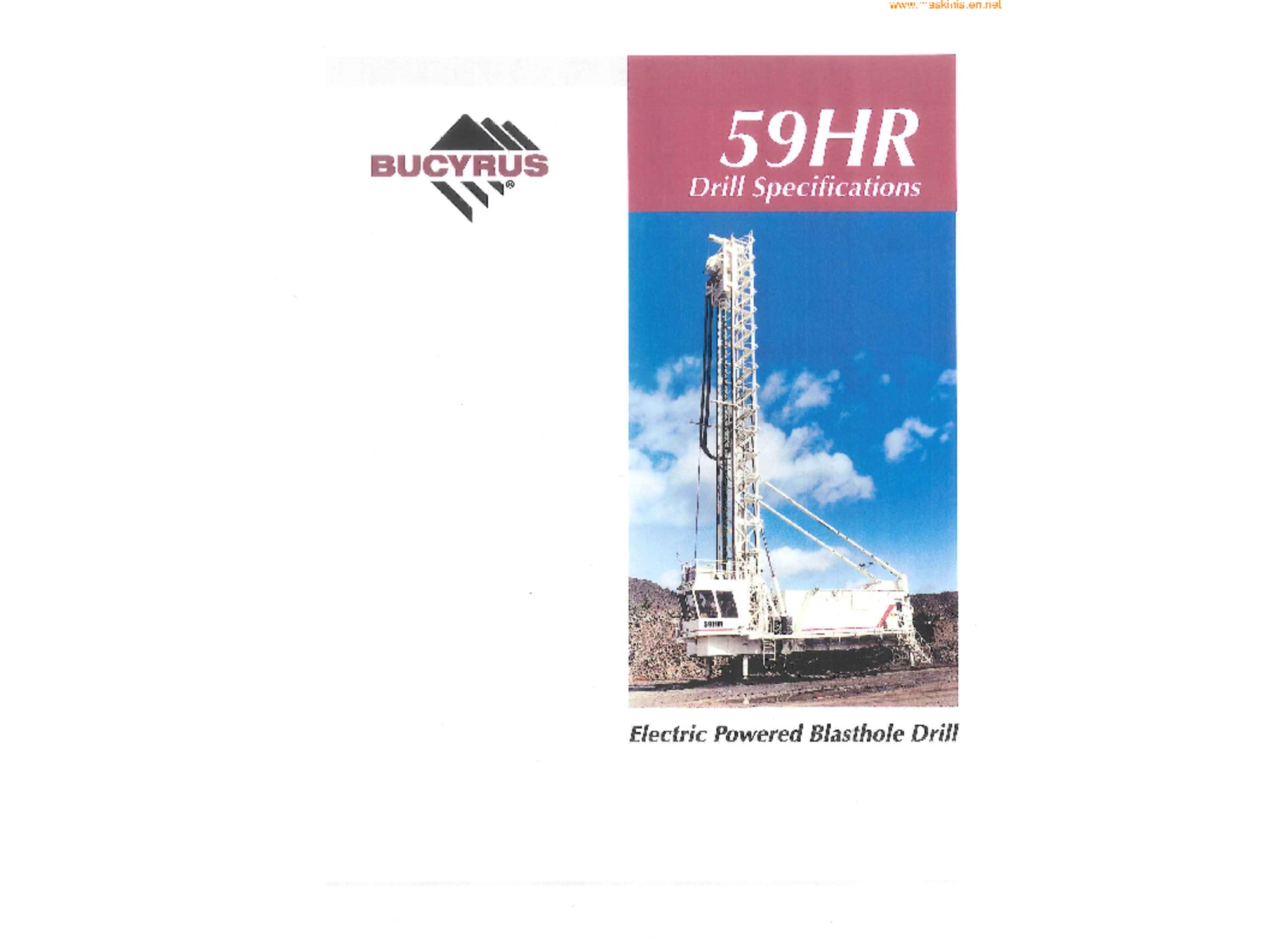 Bucyrus 59HR Drills specifikationer
