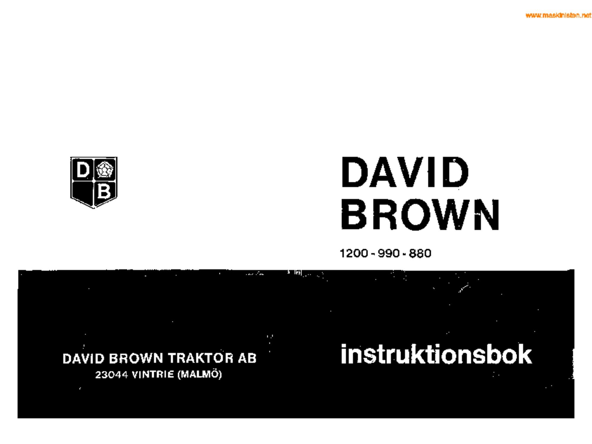 david brown 990 selectamatic manual