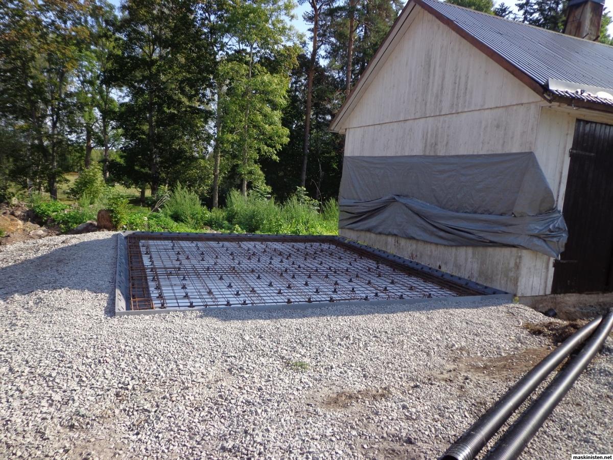 Inredning gjuta platta garage : Bygga varmverkstad • Maskinisten