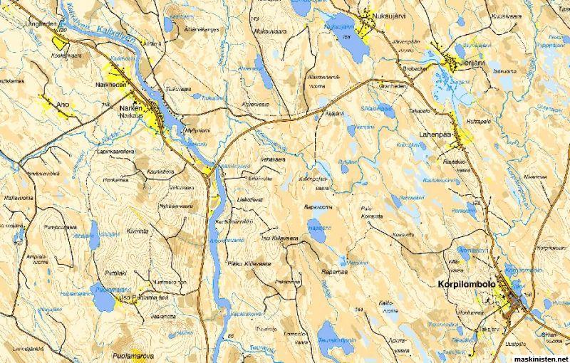 Karta Sverige Pajala.Gruvor I Pajala Kommun Maskinisten