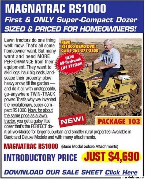 Used Magnatrac dozer For sale
