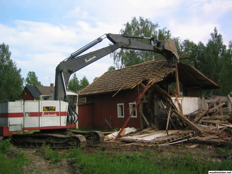 Kockum dumper  kockums 6390_20100629__lill_ladan_rivning_001_1